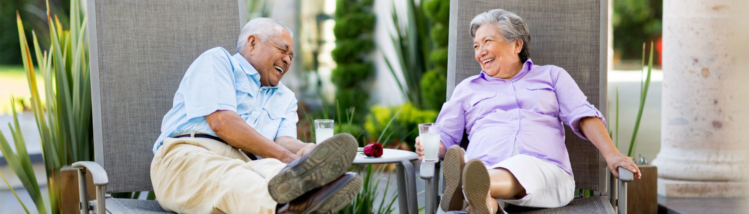 Couple Laughing and Relaxing